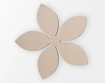 Wooden Flower  - Flower  Cut Out, Flower Wall Art, Home Decor, Wall Hanging, Unfinished and Available from 3 to 42 Inches