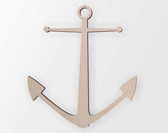 Wooden Anchor - Cutout, Home Decor, Unfinished and Available from 1 to 42 Inches Tall