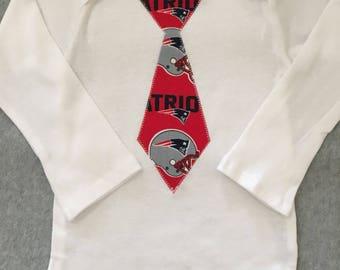 New England Patriots Baby Tie Onesie