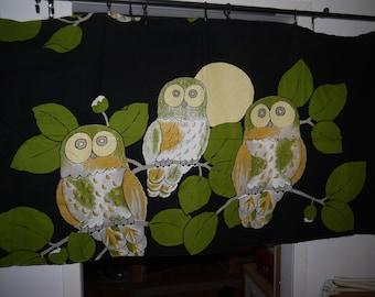 OWLS - Fabric - Remnant - Scandinavian - RETRO - 60/70s - Smashing Colors
