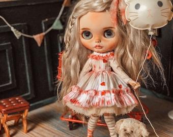 Heart- outfit for Blythe doll- Blythe dress