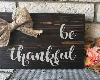 Be thankful fall sign