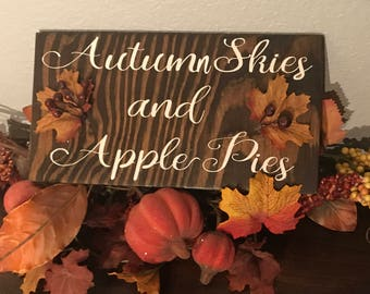 Autumn skies fall sign