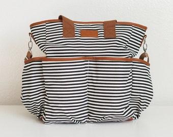 BLEMISHED BAG SALE - Classic Striped Diaper Bag