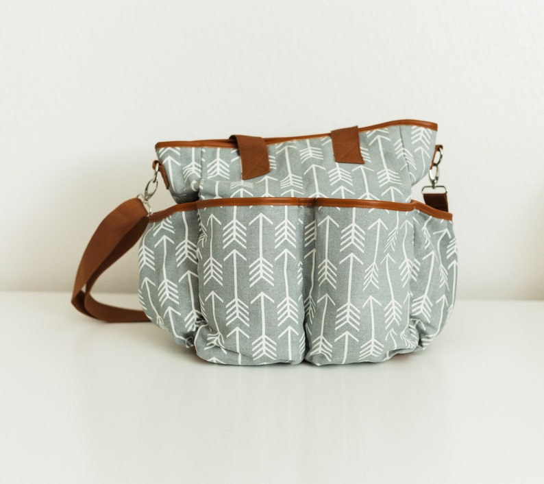 Arrow Diaper Bag / Canvas Diaper Tote Bag / Arrow Print / image 0