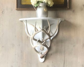 Antler Wall Mounted Side Table