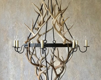 Antler and Iron Chandelier