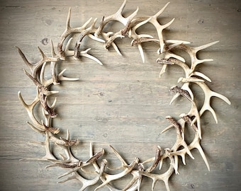 "44"" Large REAL Antler Wreath"