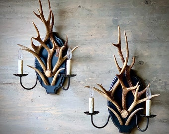 Antler & Iron Sconces - IN STOCK - Sold as Pair