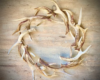 "22"" REAL Antler Wreath"
