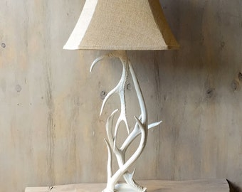 Antler Table Lamp, Solid White