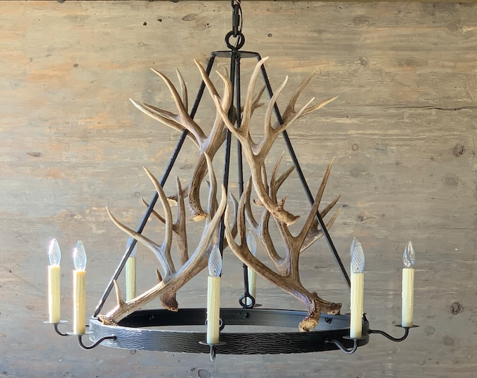 Featured listing image: Antler & Iron Chandelier - Medium
