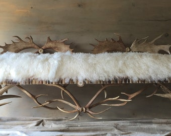 Antler Bench, hand crafted using the finest naturally shed antlers