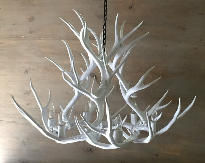 Featured listing image: White Antler Chandelier