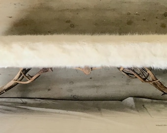 Antler Bench, hand crafted using the finest naturally shed antlers, FREE Shipping