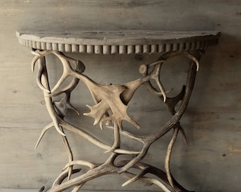Antler Demilune Table