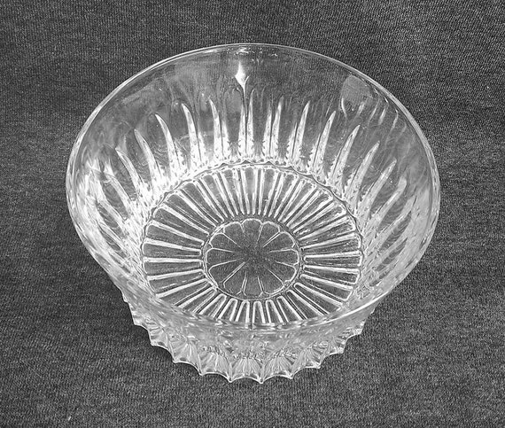 Antiques Crystal Bowl Unique Crystal Vase Round Bowl Salad Etsy