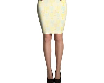 Chanukah Pencil Skirt