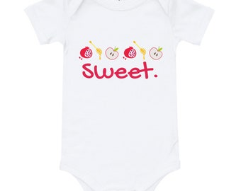 Sweet Baby Rosh Hashanah Apples Honey Romper Onesie T-Shirt