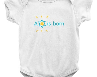 A Star Is Born Baby Onesie Gift For Jewish Baby Boy Girl Bris Baby Naming Brit Milah