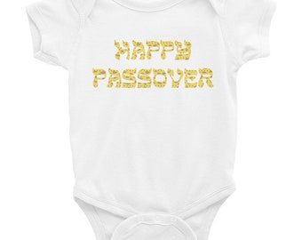 Happy Passover Baby Bodysuit, Pesach Baby Outfit, Passover Baby, Seder Outfit