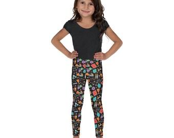 Jewish Kid's Shabbat Leggings, Shabbat Shalom, Children's Leggings, Jewish Kid, Jewish Gift, Jewish Girl