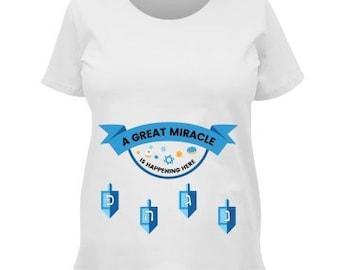 Maternity Miracle Hanukkah Shirt