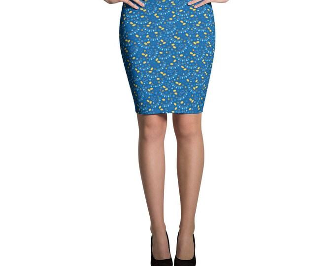 Blue Chanukah Pencil Skirt