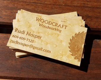 Wood business card etsy business cards wood business cards laser engraved wood business cards personalized wood business cards unique wood cards colourmoves