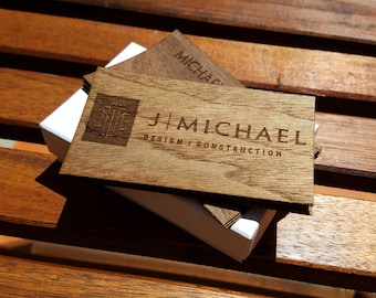 Wood Business Cards/Double-sided Business Cards/Laser Engraved Business Cards/Personalized Wood Business Cards/Engraved Wood Business Cards