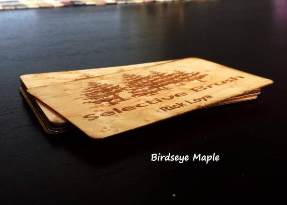 Holz Visitenkarten Business Cards Laser Graviert Holz Visitenkarten Personalisierte Holz Visitenkarten Einzigartige Holz Karten