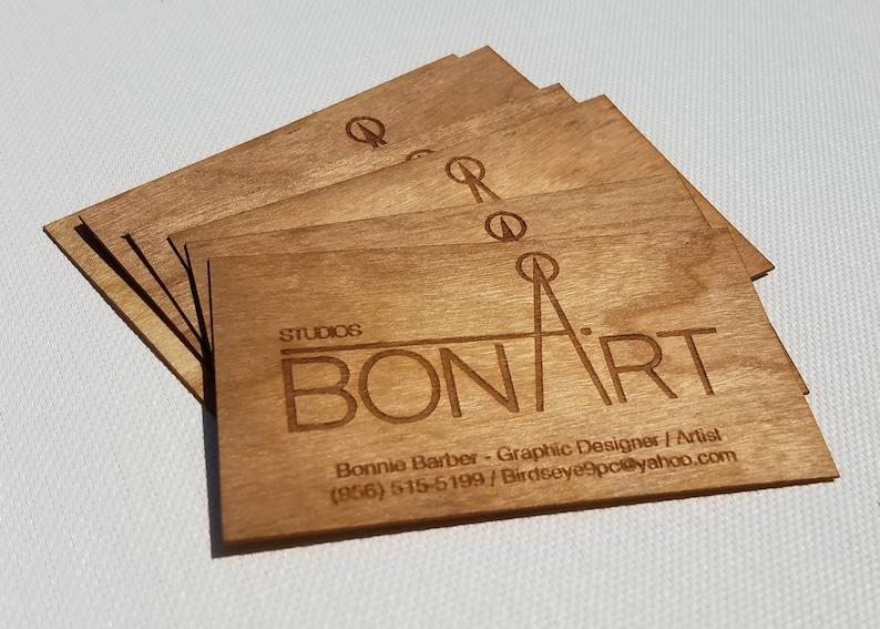 Cartes De Visite Bois Business Cards Laser Grave