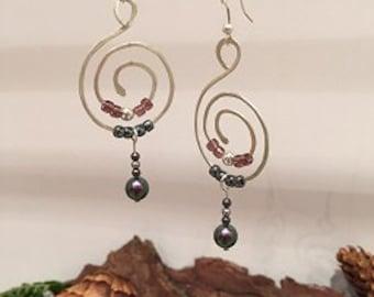 sterling silver hoop style earirngs