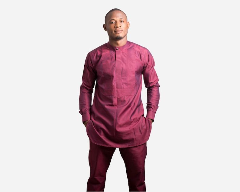 afffe8c35d Maroon Kaftan African menswear, african clothing, african men, african  clothes for men, african shirt, african man, african top and pants