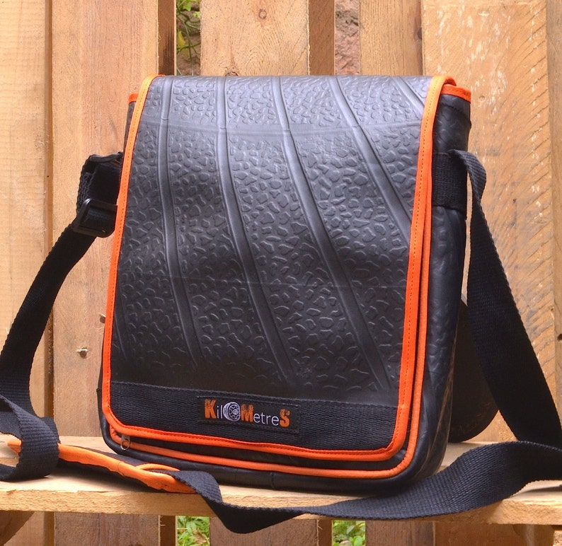 I Pad Bag Tablet Tote made of recycled inner tube