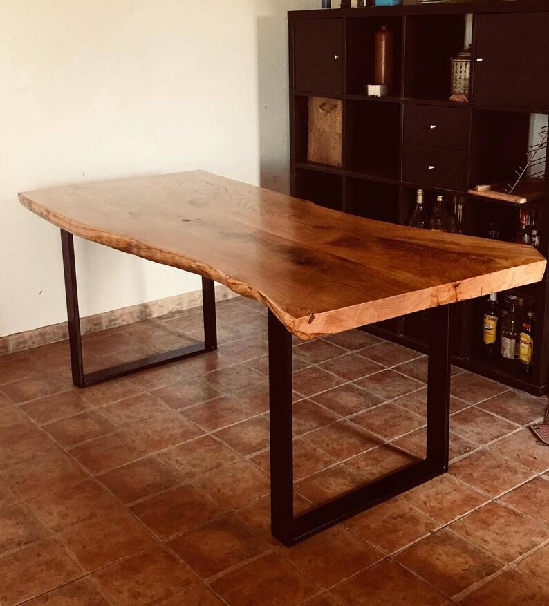 Mesa comedor rústica moderna castaño | Etsy