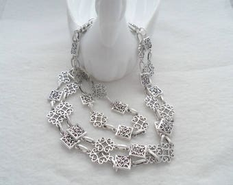 """Large Link Antique Silver Chain, 38"""" long (2026)"""