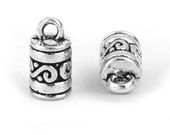 Bails 9 x 3.5 100,250,500 Findings UK Platinum Silver Folding Crimp End Caps