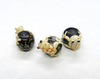 Glass beads ......... GPgb20-113pcs 20mm x 11mm ................