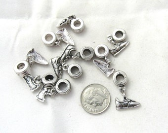 10 Pc Tennis Shoe Euro Style Dangle Charm Set (B156a1)
