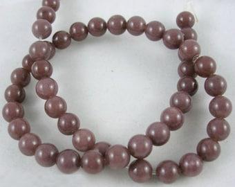1 Strand Natural Purple Aventurine Gemstone Round Beads 8mm (B10g1)