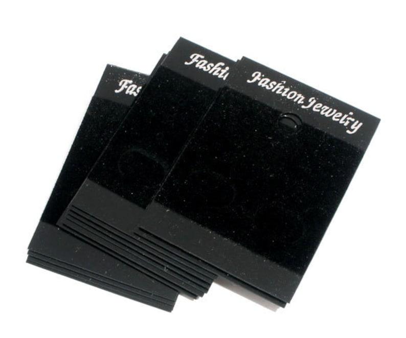50 Black Velvet Earring Display Cards 52 x 37mm B32D