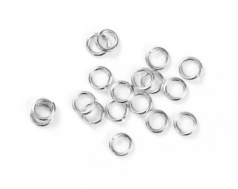 3000pcs Silver Plated Open Jump Rings 4mm x .7mm (B256d)
