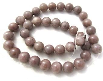 1 Strand Natural Purple Adventurine Round Beads 10mm (B151c5)