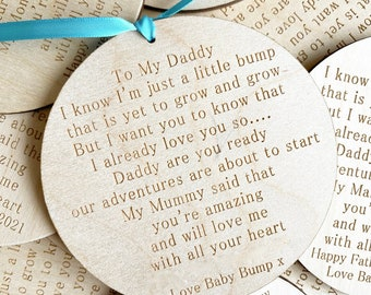 Letter From Bump Daddy To Be Sign - Birthday Gift From Bump - Daddy To Be Keepsake Gift - Dad To Be Gift From Bump