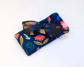 Plaid Pattern Glasses Case Women Men Eyeglasses Bag Pencil Case Pouch