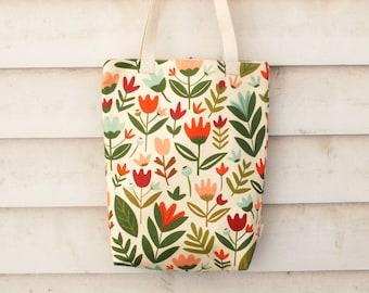 Tote Bag | Tote | Bag | Market Tote | Carry Bag | Digitally Printed Fabric | Melbourne Made | Spring Garden Print