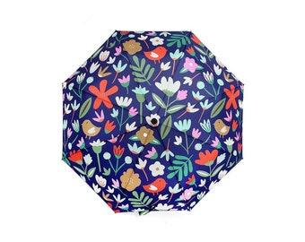Umbrella | Fabric Drawer x Monster Threads Collab | Foldable Umbrella | Winter Garden Print