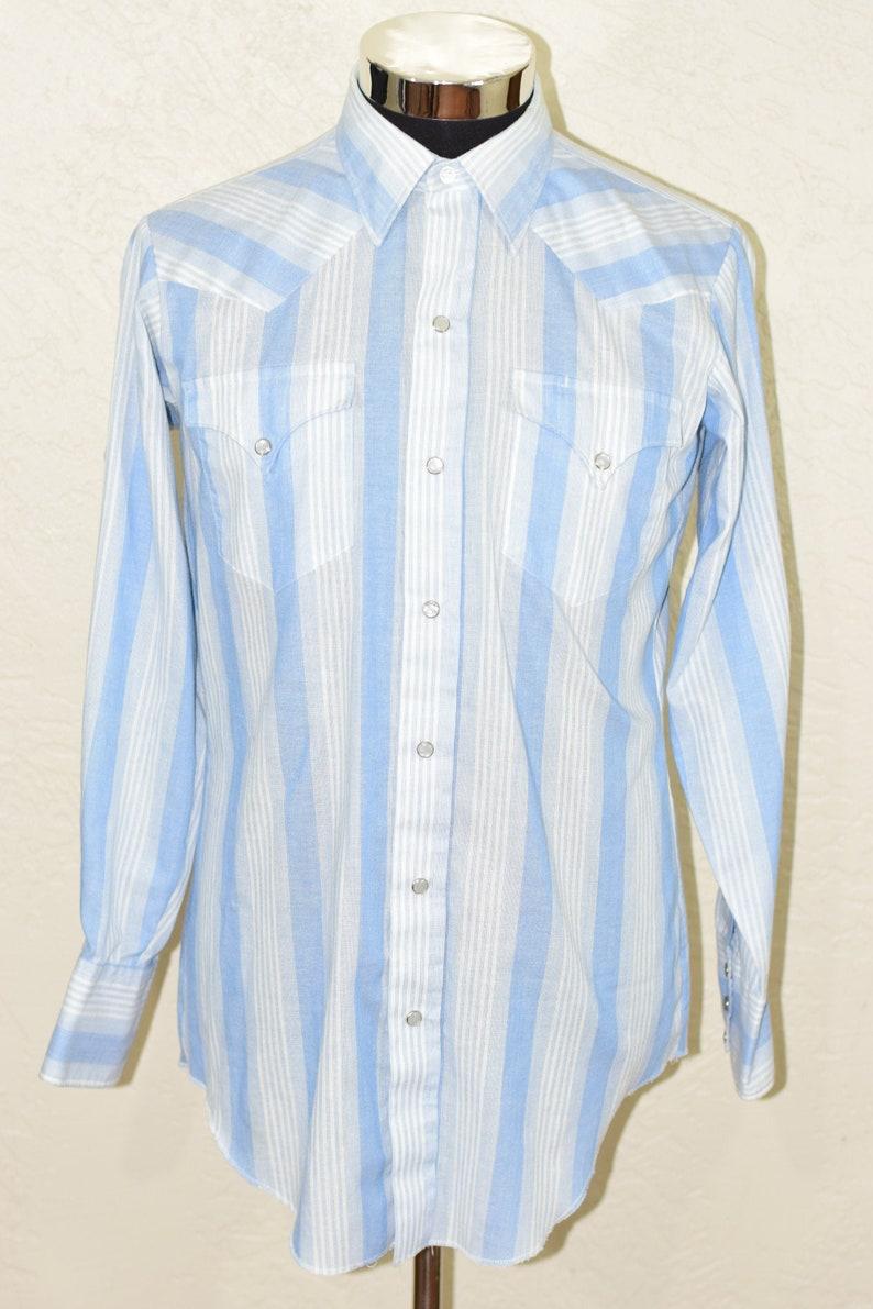 H Bar C California Ranchwear Western Shirt Cowboy wear Button Up 15 12 33 Med