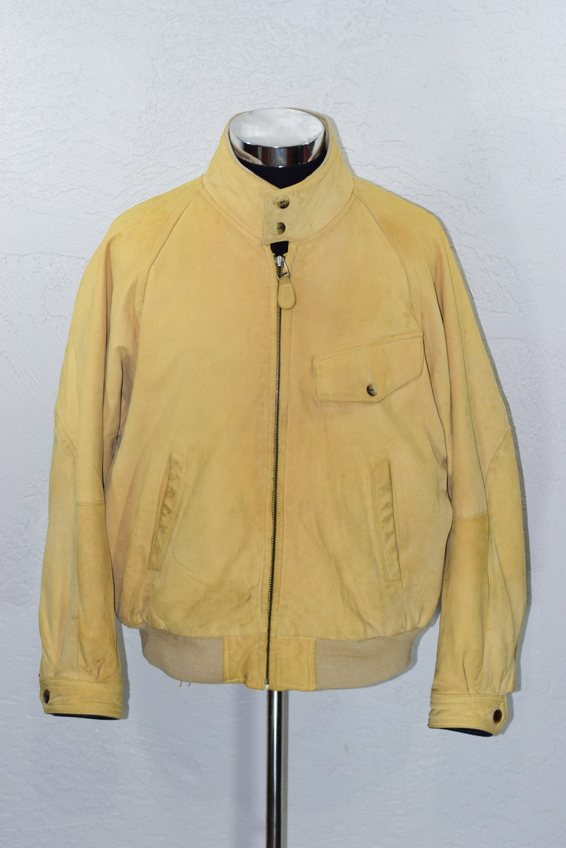NAUTICA Soft Leather Bomber Coat Motorcycle Flight Jacket Size  62735c4e3